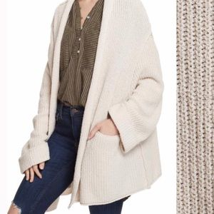 Free people oversized knit cardigan
